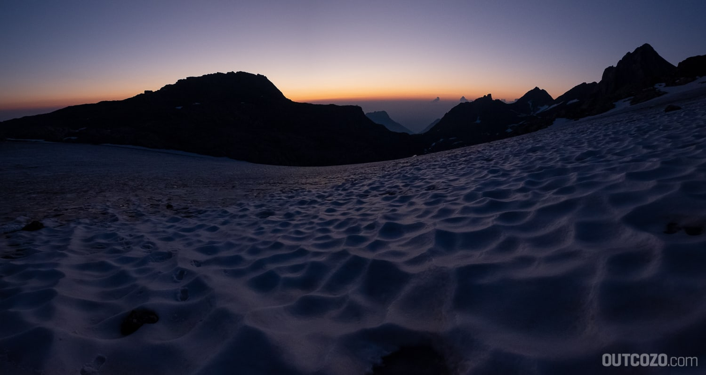 Brander Gletscher bei Tagesanbruch