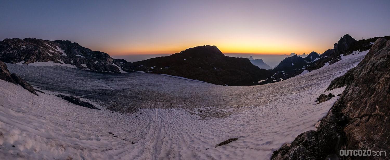Brandner Gletscher Sonnenaufgang