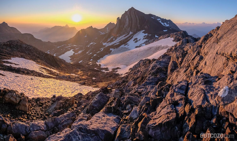 Sonnenaufgang Brandner Gletscher und Schesaplana