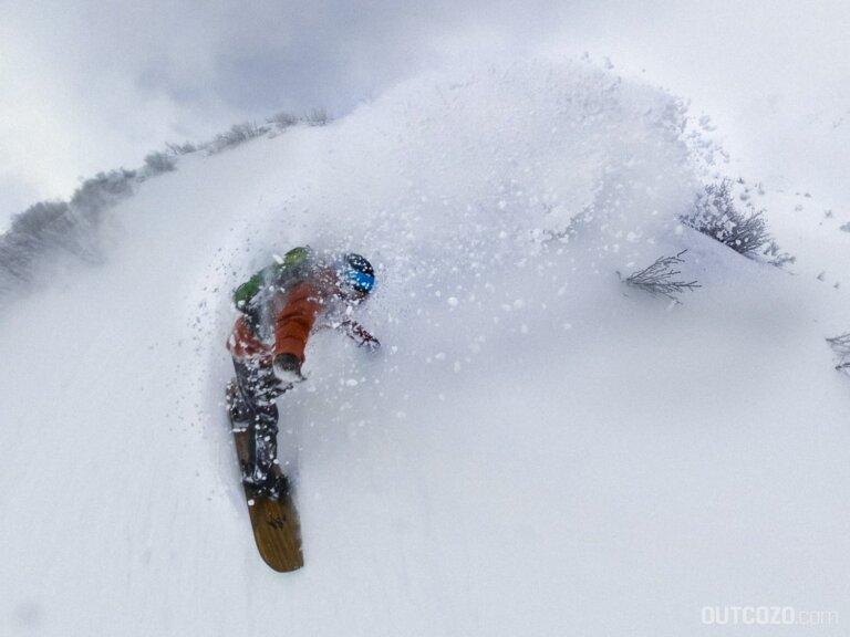 Snowboard Freeride mit Klättermusen Brage